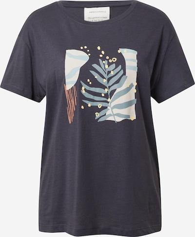 ARMEDANGELS T-Shirt 'NELAA' in rauchblau / braun / hellgelb / anthrazit / weiß, Produktansicht