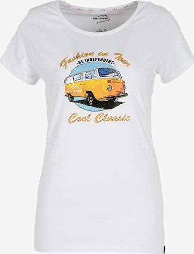 Miracle of Denim T-Shirt in himmelblau / limone / schwarz / weiß, Produktansicht