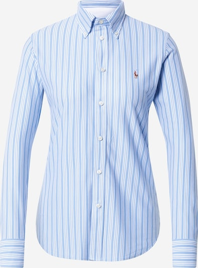 Polo Ralph Lauren Bluzka 'Heidi' w kolorze jasnoniebieski / brązowy / białym, Podgląd produktu