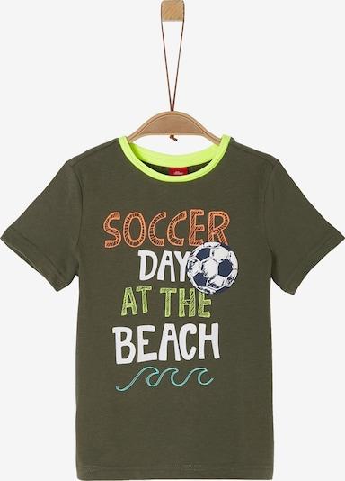 s.Oliver Junior Shirt in khaki / kiwi, Produktansicht