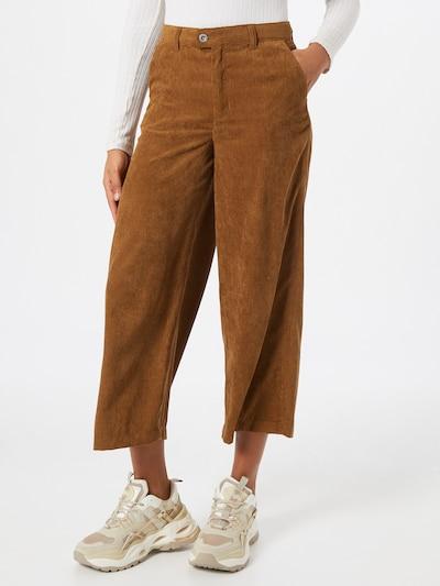 ONLY Pantalon 'Elvira' en marron, Vue avec modèle