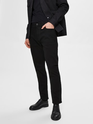 Jeans 'LEON' di SELECTED HOMME in nero
