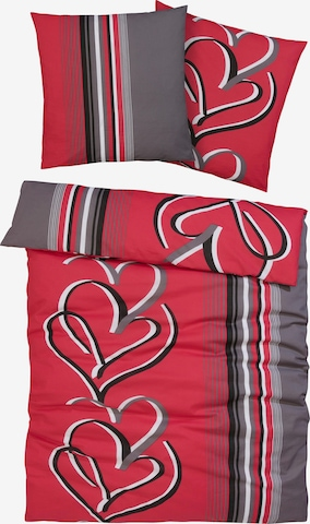 MY HOME Duvet Cover in Red