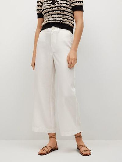 MANGO Spodnie w kolorze białym, Podgląd na modelu(-ce)