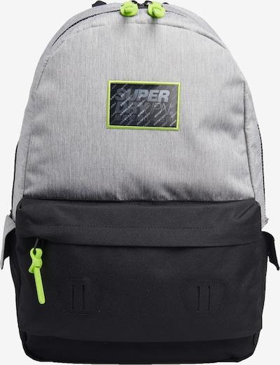 Superdry Rugzak in de kleur Grijs / Neongroen / Zwart, Productweergave