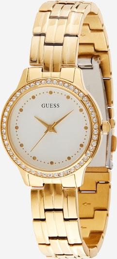 GUESS Analogni sat u zlatna / bijela, Pregled proizvoda