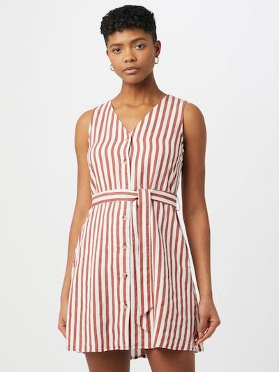 Rochie tip bluză VERO MODA pe roșu pastel / alb, Vizualizare model