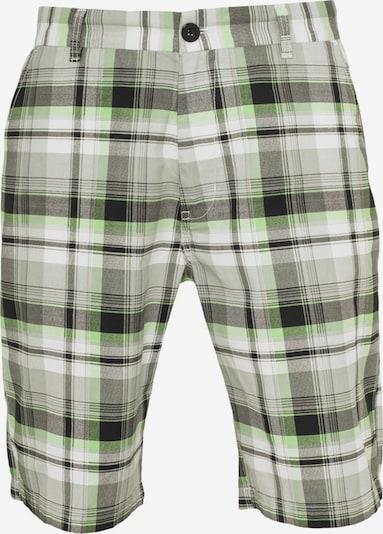 Urban Classics Shorts in grau / hellgrau / kiwi / schwarz / weiß, Produktansicht