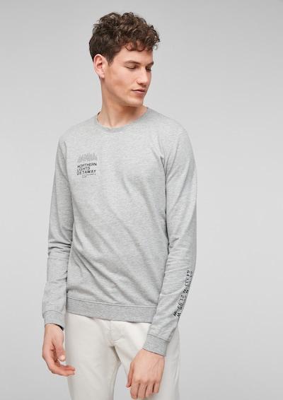 s.Oliver Sweater majica u siva melange / crna, Prikaz modela