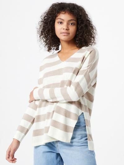 ONLY Pullover 'Amalia' in creme / dunkelbeige, Modelansicht