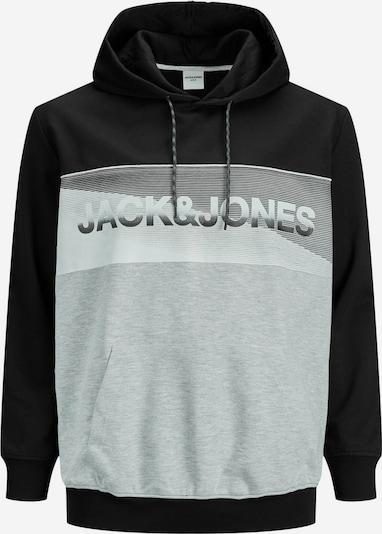 Jack & Jones Plus Sweatshirt in hellgrau / dunkelgrau / schwarz, Produktansicht