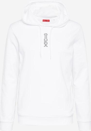 HUGO Sweatshirt 'Dondy' in de kleur Zwart / Wit, Productweergave