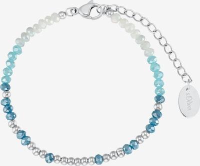 s.Oliver Armband in blau / türkis / silber, Produktansicht