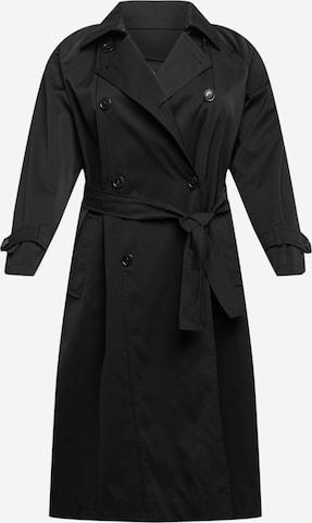 Persona by Marina Rinaldi Between-Seasons Coat 'TIMO' in Black