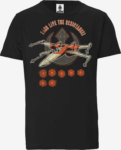 LOGOSHIRT T-Shirt in schwarz, Produktansicht