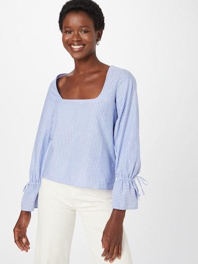 Pimkie Bluse 'STROBA' in blau / weiß, Modelansicht