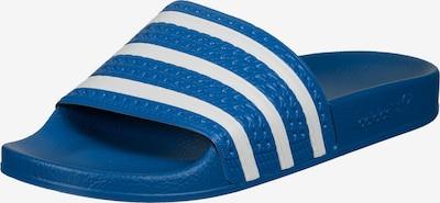 ADIDAS ORIGINALS Badeschuh 'Adilette' in himmelblau / weiß, Produktansicht