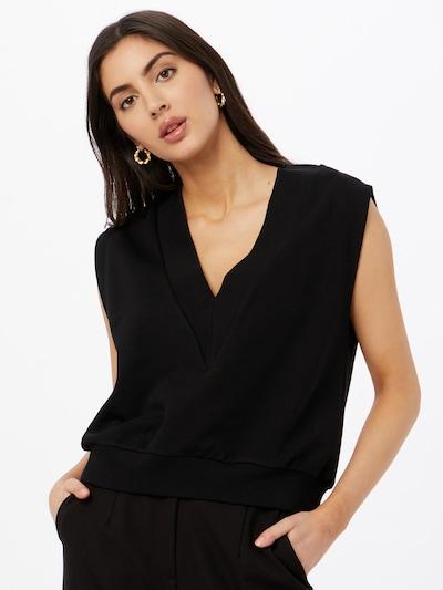 Gina Tricot Пуловер 'Love' в черно: Изглед отпред