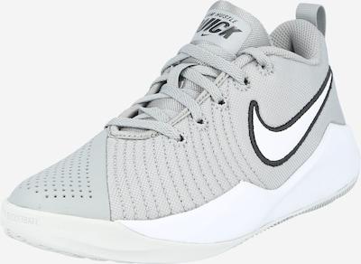 NIKE Спортни обувки 'Team Hustle Quick 2' в сиво / черно / бяло, Преглед на продукта