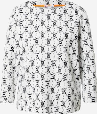 STREET ONE T-shirt en noir / blanc cassé, Vue avec produit