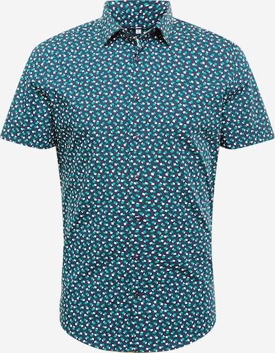 SEIDENSTICKER Hemd 'New Kent' in dunkelblau / jade / weiß, Produktansicht