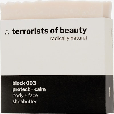 Terrorists of Beauty Seife 'Block Protect + Calm White' in weiß, Produktansicht