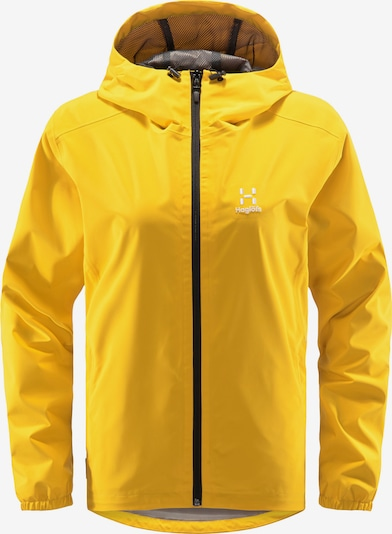 Haglöfs Outdoorjas 'Buteo' in de kleur Geel / Wit, Productweergave