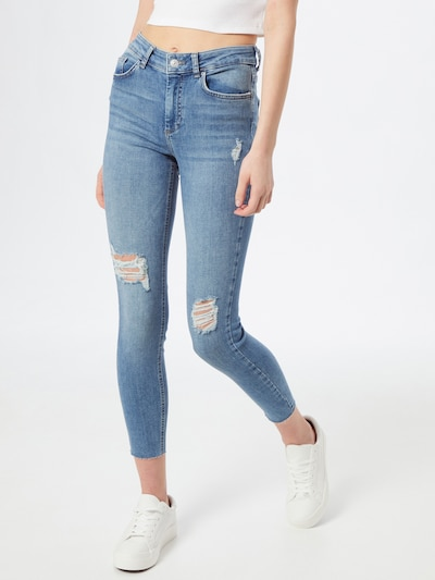 PIECES Jeans 'PCDELLY' in blau, Modelansicht
