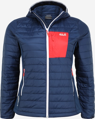 JACK WOLFSKIN Sports jacket 'Routeburn' in Dark blue / Red, Item view