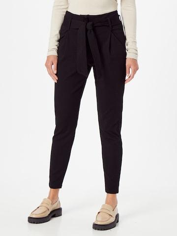 VERO MODA Élére vasalt nadrágok 'BAILEY' - fekete