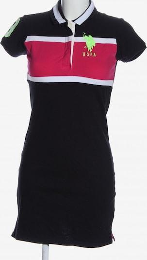 U.S. POLO ASSN. Kurzarmkleid in S in pastellgelb / pink / schwarz, Produktansicht