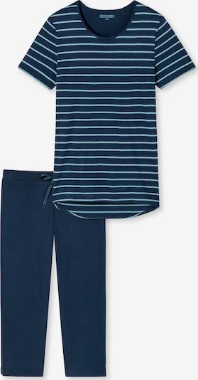 SCHIESSER Pyjama in navy / aqua, Produktansicht