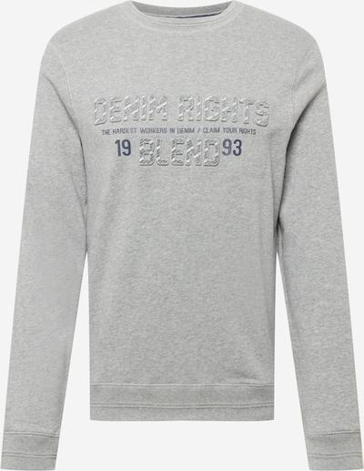 BLEND Sweat-shirt en bleu marine / gris chiné, Vue avec produit