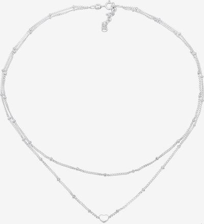 ELLI Choker 'Herz' in silber, Produktansicht