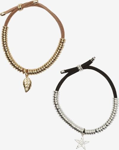 Ulla Popken Armband in gold / schwarz / silber, Produktansicht