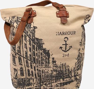 Harbour 2nd Shopper torba 'Annen' u karamela / antracit siva / puder roza, Pregled proizvoda