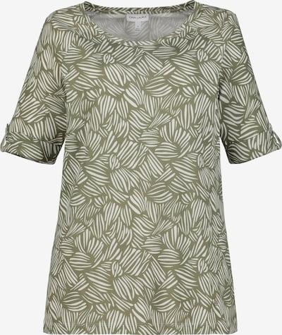Gina Laura T-Shirt in khaki / weiß, Produktansicht