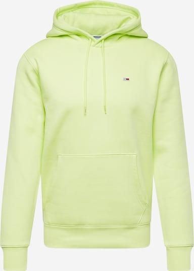 Bluză de molton Tommy Jeans pe verde limetă, Vizualizare produs