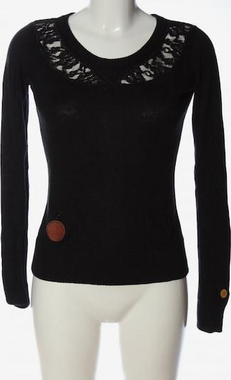 khujo Rundhalspullover in S in schwarz, Produktansicht
