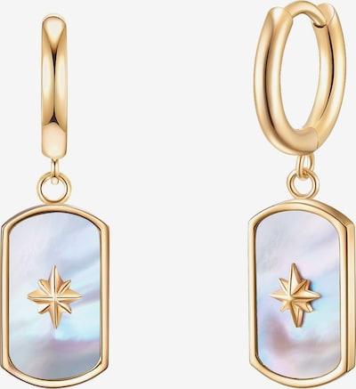 Valero Pearls Edelstahl-Creolen in goldgelb, Produktansicht