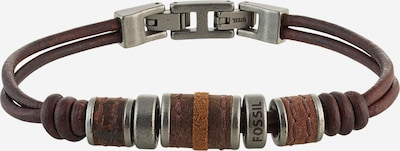 FOSSIL Armband in hellbraun / dunkelbraun / silber, Produktansicht