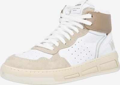WOMSH Augstie brīvā laika apavi, krāsa - gaiši bēšs / balts, Preces skats