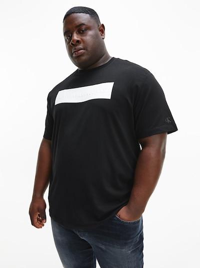Calvin Klein Jeans Plus Shirt in de kleur Zwart / Wit: Vooraanzicht