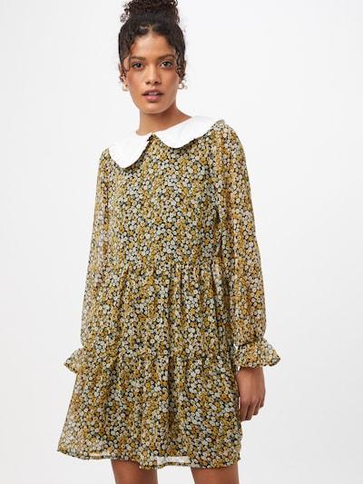 NEW LOOK Košilové šaty 'DAISY' - hořčicová / olivová / černá / bílá, Model/ka