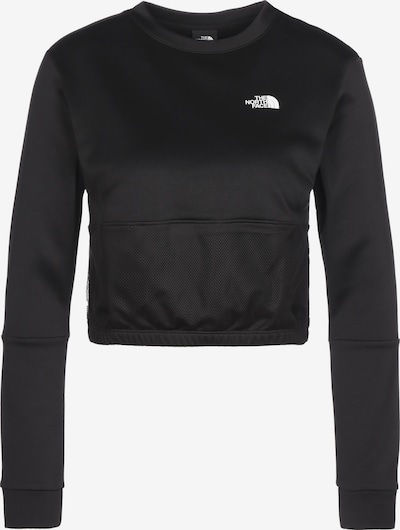 THE NORTH FACE Sportsweatshirt 'Train N' in schwarz / weiß, Produktansicht