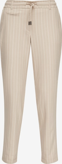 Ci comma casual identity Pantalon en beige / blanc, Vue avec produit