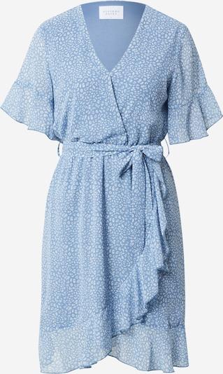 SISTERS POINT Kleid 'NEW GRETO-4' in rauchblau / weiß, Produktansicht