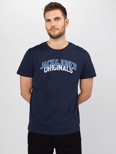 Marškinėliai 'CHRIS' iš JACK & JONES , spalva - tamsiai mėlyna / mėlyna dūmų spalva / balta: Vaizdas iš priekio