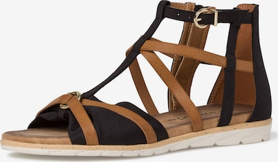 TAMARIS Sandale in cognac / schwarz, Produktansicht