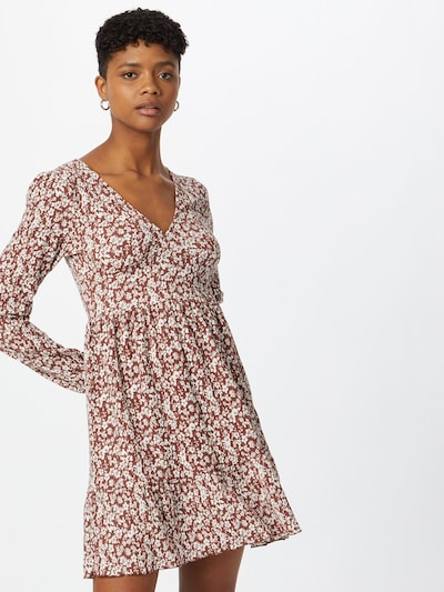 ABOUT YOU Kleid 'Mele' in braun / mischfarben, Modelansicht